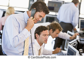 Stock Trader On The Phone