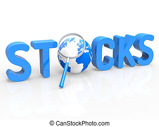 Stock Trades Shows Magnifying Buy And Trading