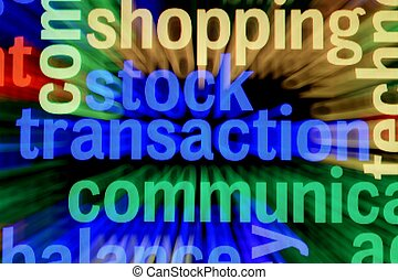 Stock transaction concept
