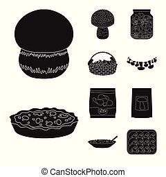 stock., variedade, alimento, cobrança, vetorial, desenho, ingrediente, logo., ícone