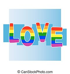 Stock vector background with gay pride design elements for...