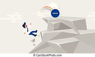illustration businessman goes to dream - Stock vector...