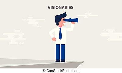 illustration businessman seer