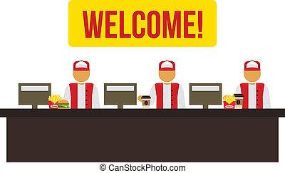 Stock vector cashiers icon