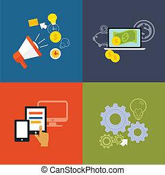 Stock vector design concept for web