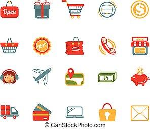 Stock vector e commerce color