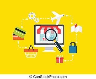 Stock vector e commerce