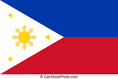 Stock Vector Flag of the Philippines
