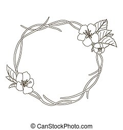 Stock vector hand drawn wreath