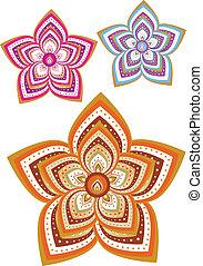 Flower pattern - Stock Vector Illustration: Flower pattern