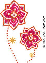 Flower - Stock Vector Illustration: Flower pattern