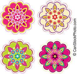 Flower set - Stock Vector Illustration: Flower set