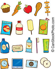 Stock Vector Illustration: Grocery store product