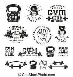 Stock vector illustration of gym club emblem
