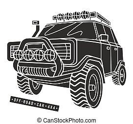 Stock vector illustration off-road car