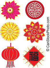 Chinese new year elements - Stock Vector Illustration:...