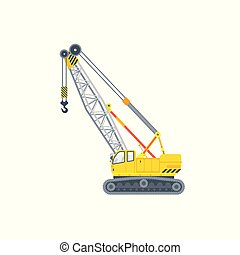 assembly crawler crane illustration side view