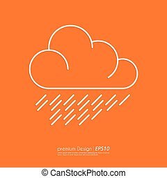 Stock Vector Linear icon cloud.