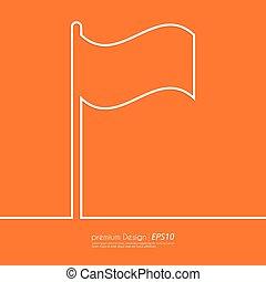 Stock Vector Linear icon flag.