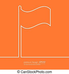 Stock Vector Linear icon flag.