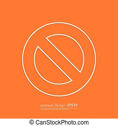 Stock Vector Linear icon prohibited