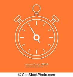Stock Vector Linear icon stopwatch