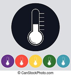 Stock Vector Linear icon thermometer.