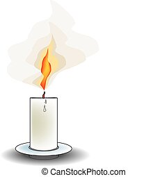 Stock vector of a candle isolated on white