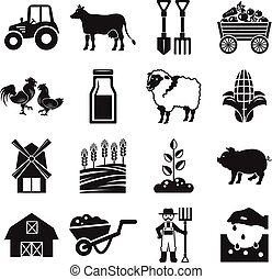Stock vector pictogram farm