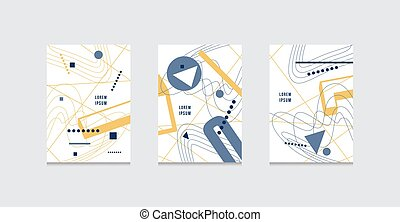 Stock vector set of abstract brochure template covers