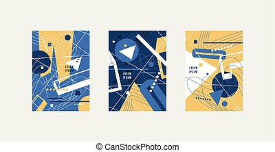 Stock vector set of abstract brochure template