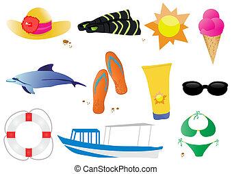 stock-vector-set-of-summer-elements