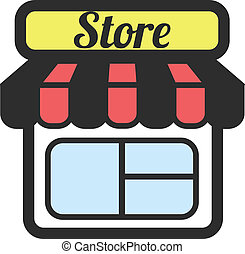 Stock vector store supermarket
