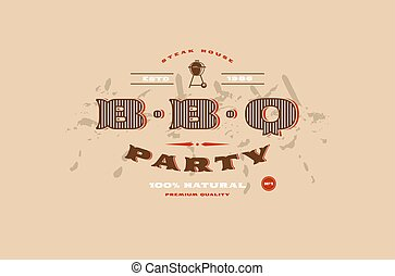 Stock vector template of BBQ party invitation