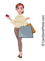 Pretty businesswoman cartoon character
