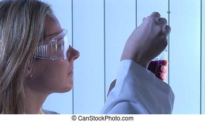 Stock Video of a Biochemist