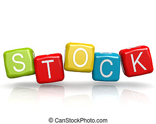 Stock word color cube