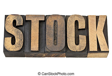 stock word in wood type