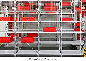 stockage, étagères
