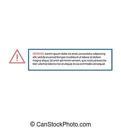 stockage, avertissement, texte, vecteur, blanc, illustration, signe, cadre, attention, arrière-plan., instructions., sécurité, isolé