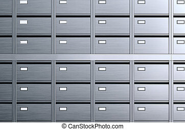 stockage, boxes., archives., 3d, illustration