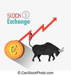 stockage, business, échange