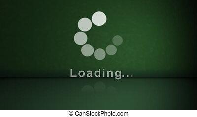 stockage, chargement, animation, -