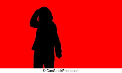 stockage, danseur, animation, silhouetted