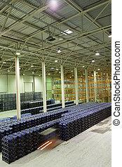 stockage, eau, marchandises, fini, constitution, fabrication, usine, grand, minéral