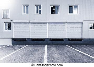 stockage, extérieur, units.