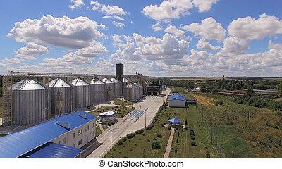 stockage grain, bâtiments., réservoirs