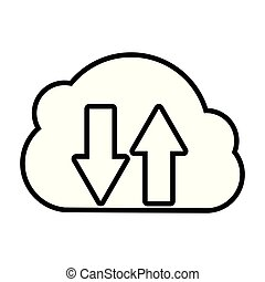 stockage, nuage, calculer