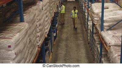 stockage, personnel, fonctionnement, baie, 4k, entrepôt