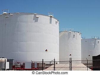 stockage, petro-chemical, réservoirs
